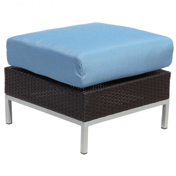 Avenir Wicker collection ottoman