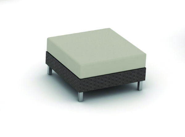 Radiate Wicker collection ottoman