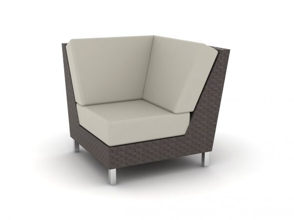 Radiate Wicker collection section chair