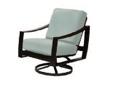 Pinnacle Sling & Cushion Collection Swivel Chair