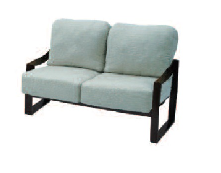 Pinnacle Sling & Cushion Collection Loveseat
