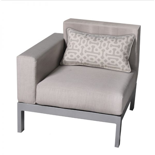 upholstered Vectra Breeze collection section chair