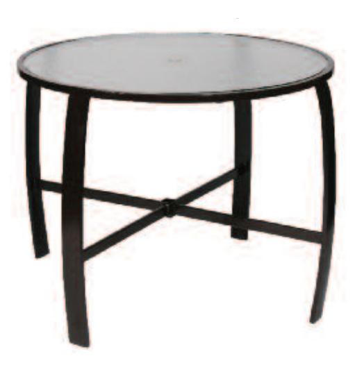 Bar Height Glass Table